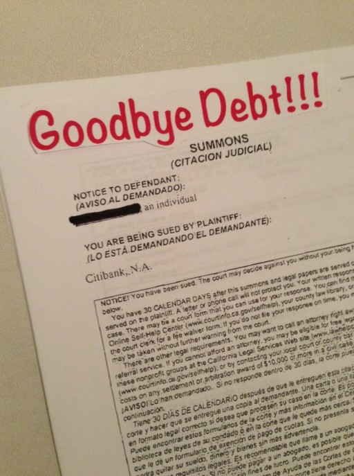 Goodbye debt!
